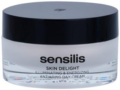 Sensilis Skin Delight Anti-Falten-Creme für Vitalität und das Aufhellen der Haut SPF 15