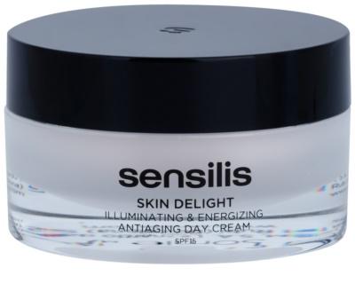 Sensilis Skin Delight crema antiarrugas para dar luminosidad y vitalidad a la piel SPF 15
