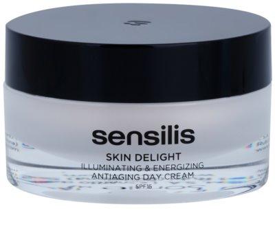 Sensilis Skin Delight ráncellenes krém a bőr ragyogásáért és vitalitásáért SPF 15
