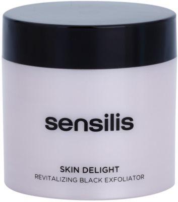 Sensilis Skin Delight revitalizáló peeling aktív szénnel az arcbőr valódi ragyogásáért
