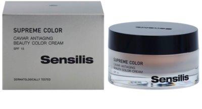 Sensilis Supreme Color tonizujący krem przeciwzmarszczkowy dla ujednolicenia skóry SPF 15 2