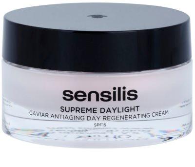 Sensilis Supreme Daylight crema regeneradora antiarrugas SPF 15