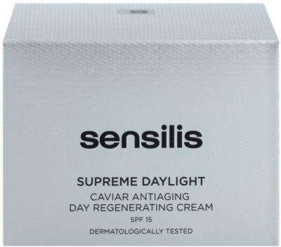 Sensilis Supreme Daylight regenerierende Creme gegen Falten SPF 15 3