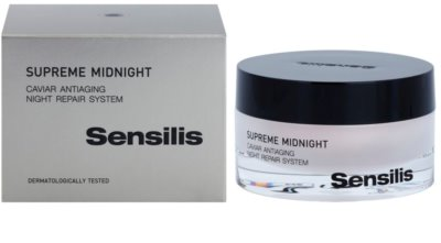 Sensilis Supreme Midnight crema de noapte pentru regenerare profunda cu efect antirid 2