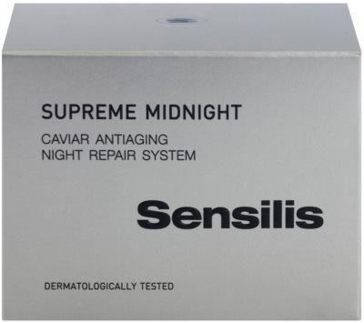 Sensilis Supreme Midnight crema de noapte pentru regenerare profunda cu efect antirid 3