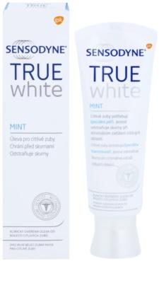 Sensodyne True White Mint pasta wybielająca przeciw przebarwieniom na szkliwie dla wrażliwych zębów 1
