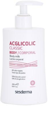 Sesderma Acglicolic Classic Body стягащо мляко за тяло  с пилинг ефект