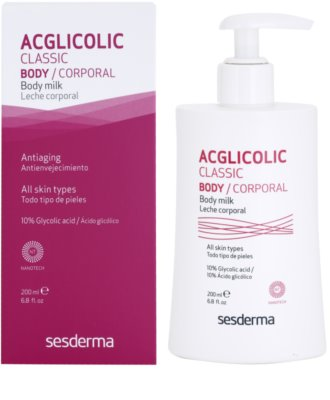 Sesderma Acglicolic Classic Body tělové mléko zpevňující s peelingovým efektem 1