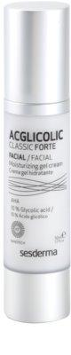 Sesderma Acglicolic Classic Forte Facial Gel-Creme kompletter Anti-Falten Schutz