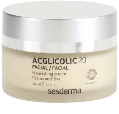 Sesderma Acglicolic 20 Facial odżywczy krem odmładzający do skóry suchej i bardzo suchej