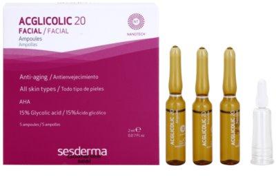 Sesderma Acglicolic 20 Facial ser pentru contur cu efect exfoliant