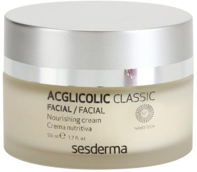 Sesderma Acglicolic Classic Facial crema rejuvenecedora nutritiva para pieles secas y muy secas