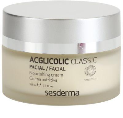 Sesderma Acglicolic Classic Facial tápláló fiatalító krém száraz és nagyon száraz bőrre