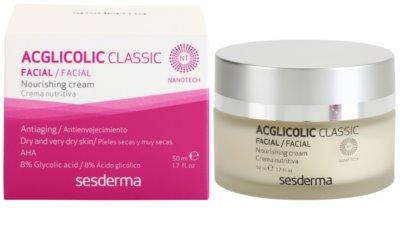 Sesderma Acglicolic Classic Facial nährende und verjüngende Creme für trockene bis sehr trockene Haut 2