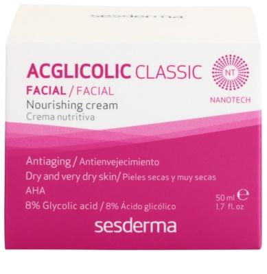 Sesderma Acglicolic Classic Facial nährende und verjüngende Creme für trockene bis sehr trockene Haut 3