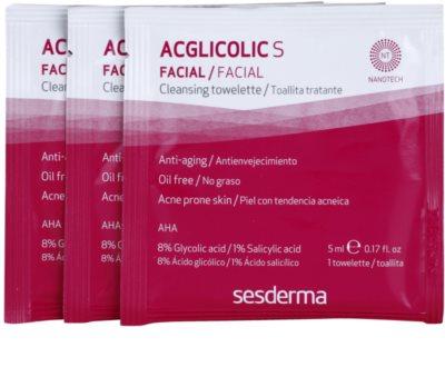 Sesderma Acglicolic S Facial почистващи кърпички за мазна и проблемна кожа