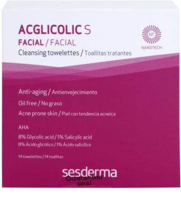 Sesderma Acglicolic S Facial chusteczki pielęgnacyjne do cery tłustej i problematycznej 2