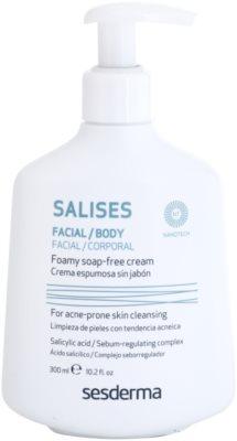 Sesderma Salises gel de limpeza antibacteriano para rosto e corpo