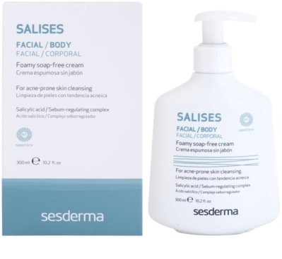 Sesderma Salises антибактериален почистващ гел за лице и тяло 1