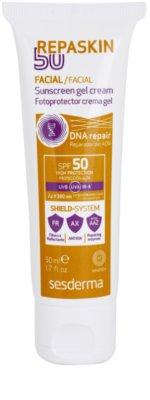 Sesderma Repaskin 50 слънцезащитен гел-крем за лице  SPF 50