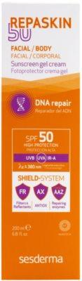 Sesderma Repaskin 50 gel- crema bronceadora para el cuerpo SPF 50 2
