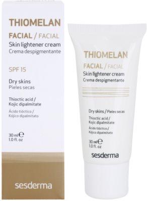 Sesderma Thiomelan fehérítő ápoló krém a pigmentfoltok ellen SPF 15 1