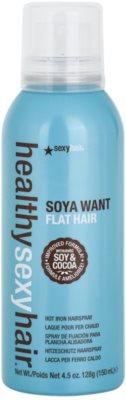 Sexy Hair Healthy fixáló spray a hajformázáshoz, melyhez magas hőfokot használunk