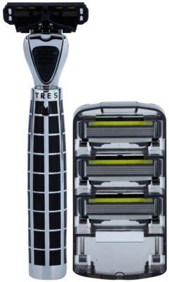Shave-Lab Luxury Tres P.4 maszynka do golenia zapasowe ostrza 3 szt.