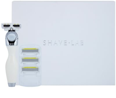 Shave-Lab Premium Twee P.L.6 holicí strojek + náhradní břity 3 ks 2