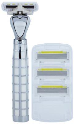 Shave-Lab Luxury Tres P.L.4 máquina de barbear + refil de 3 lâminas