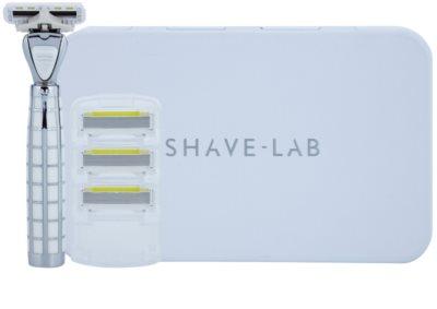 Shave-Lab Luxury Tres P.L.4 brivnik + nadomestne britvice 3 kos 2