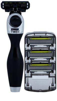 Shave-Lab Premium Twee P.4 máquina de barbear + refil de 3 lâminas