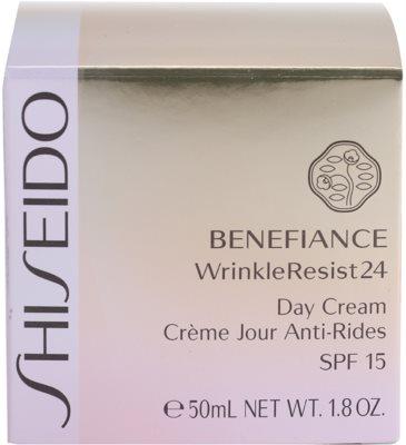 Shiseido Benefiance WrinkleResist24 nappali ránctalanító krém SPF 15 4
