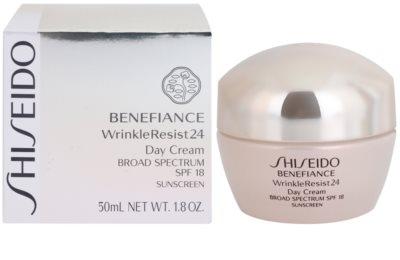 Shiseido Benefiance WrinkleResist24 регенериращ и хидратиращ крем SPF 18 2