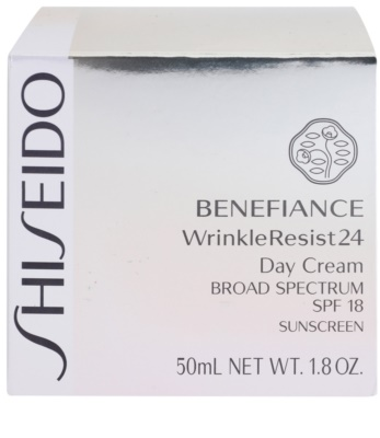Shiseido Benefiance WrinkleResist24 krem regenerujący i nawilżający SPF 18 3
