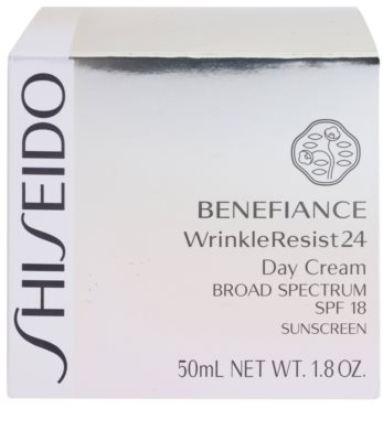 Shiseido Benefiance WrinkleResist24 регенериращ и хидратиращ крем SPF 18 3