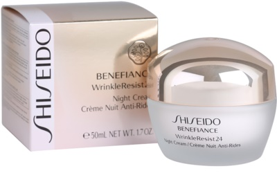 Shiseido Benefiance WrinkleResist24 нічний зволожуючий крем проти зморшок 2