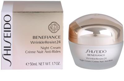 Shiseido Benefiance WrinkleResist24 нічний зволожуючий крем проти зморшок 3