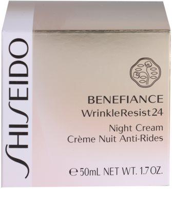 Shiseido Benefiance WrinkleResist24 нічний зволожуючий крем проти зморшок 4
