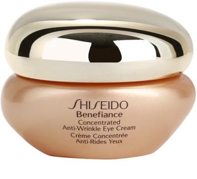 Shiseido Benefiance crema pentru ochi impotriva cutelor si al sacilor