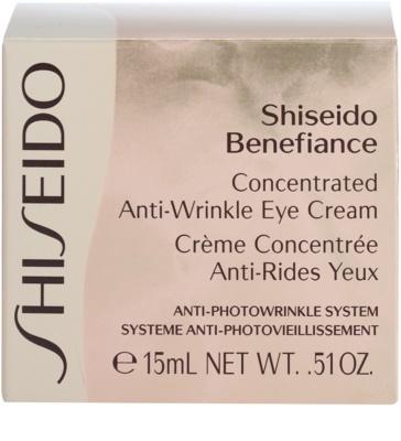 Shiseido Benefiance krem pod oczy przeciw opuchnięciom i cieniom 3