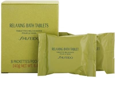 Shiseido Body Relaxing relaxační perlivá tableta do koupele