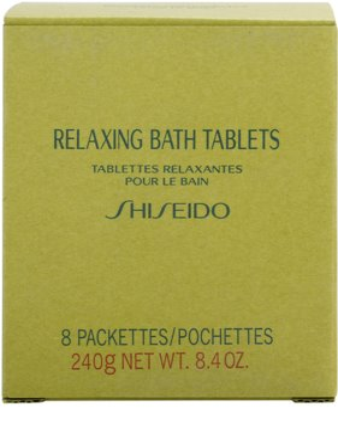 Shiseido Body Relaxing relaxációs pezsgő fürdőtabletta 2