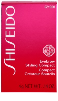 Shiseido Eyes Eyebrow Styling paletta a szemöldök sminkeléséhez 3