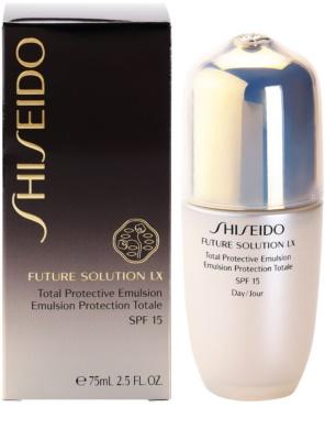 Shiseido Future Solution LX védő nappali emulzió SPF 15 2