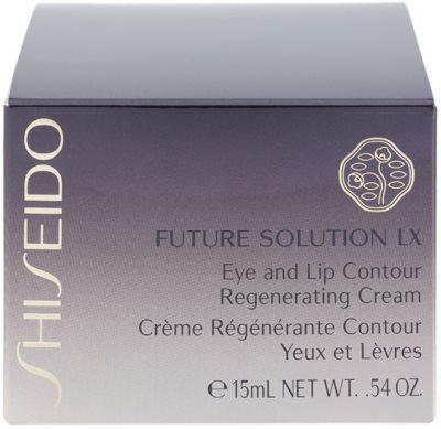 Shiseido Future Solution LX відновлюючий крем з розгладжуючим ефектом для шкіри очей та губ 4