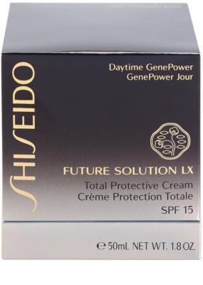 Shiseido Future Solution LX denní ochranný krém proti stárnutí pleti SPF 15 4