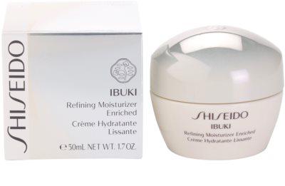 Shiseido Ibuki успокояващ и хидратиращ крем за изглаждане на кожата и минимизиране на порите 2
