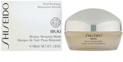 Shiseido Ibuki нощна маска за разкрасяване на кожата 1