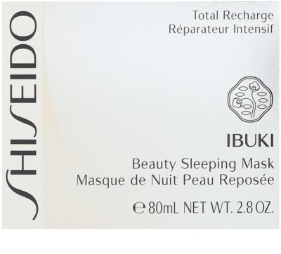 Shiseido Ibuki нощна маска за разкрасяване на кожата 2